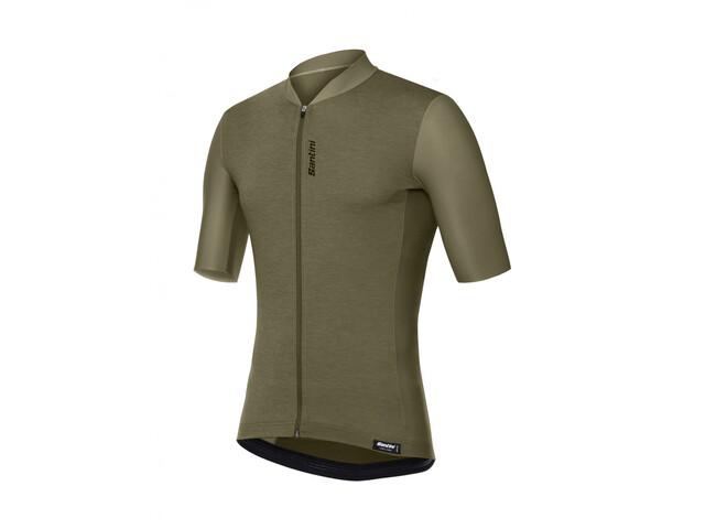 Santini Classe Jersey SS Herre verde militare
